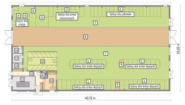 RZUT PRZYZIEMIA POW. 869,0 m²